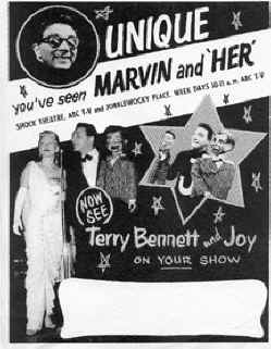 Even while performing on television, Terry and Joy appeared live on stage with Red Flannels